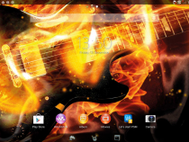 Xperia Themes on Tablet Z - Rock On