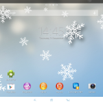 Xperia Themes on Tablet Z - Snow