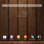 Xperia Themes on Tablet Z - Wood