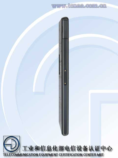 Xperia Z1S L39t Images sufaced at China's TENAA - Magnetic charging location