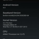 Unofficial CyanogenMod 11 KitKat 4.4 ROM for Xperia Arc - About phone