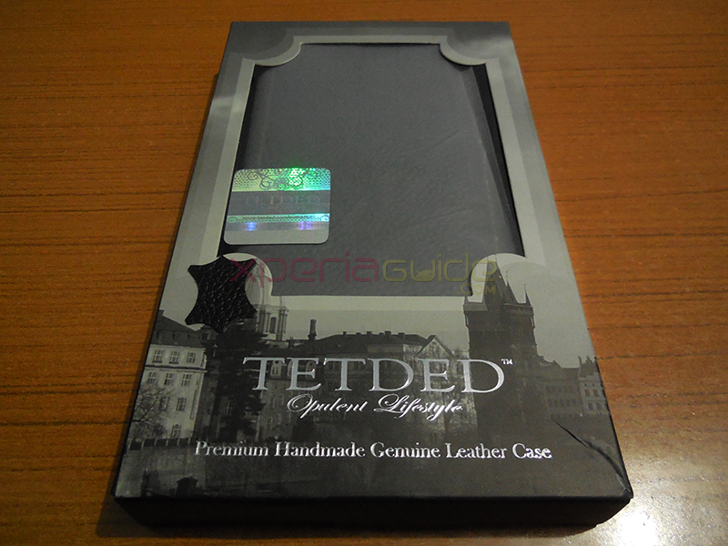 Xperia Z1 Hard-shell flip Leather Case from TETDED - Front Cover