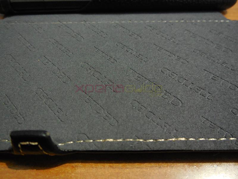 TETDED Logo inside case flap