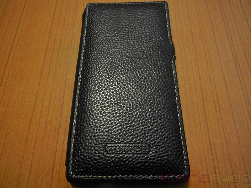 TETDED Logo on Xperia Z1 Hard-shell flip Leather Case