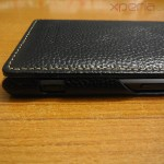 Camera shutter key opening in Xperia Z1 Hard-shell flip Leather Case from TETDED