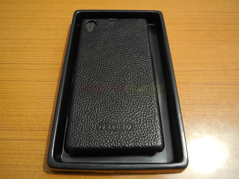 TETDED logo is embossed at the back Xperia Z1 case