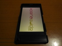 Xperia Z1 hard-shell back case framed with Leather from TETDED - Review