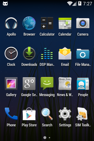Unofficial CyanogenMod 11 KitKat 4.4 ROM for Live with Walkman - Home Launcher