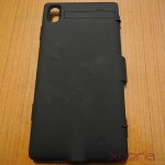 Plastic rubberized back of 3200mAh Power case for Xperia Z1 from Brando
