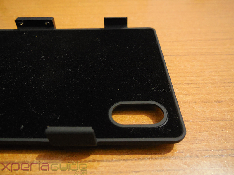 Camera opening in 3200mAh Power case for Xperia Z1 from Brando