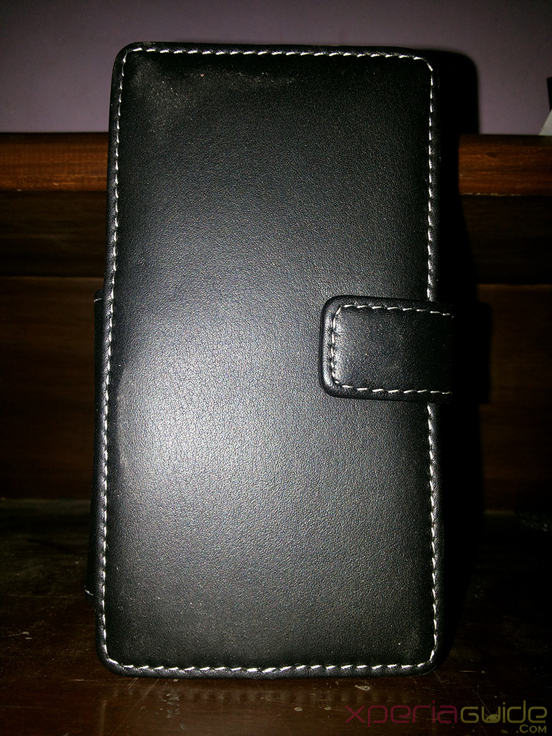 Front side of Xperia Z Book Type Leather Case from PDair