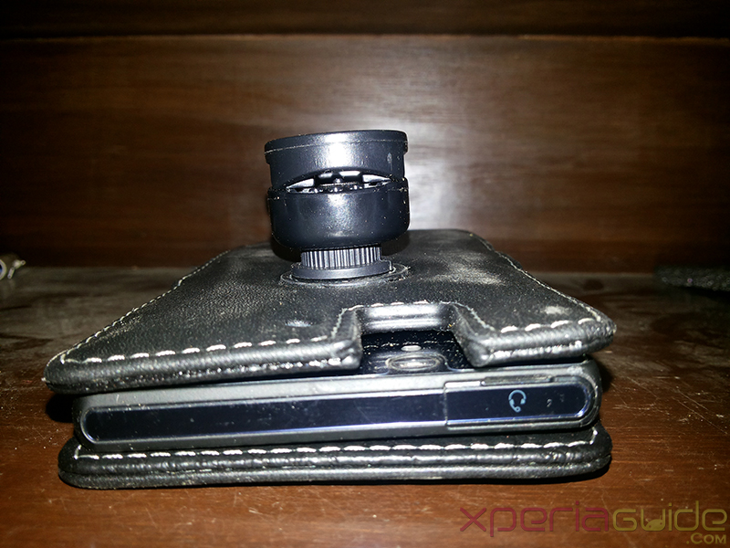 Camera slot in Xperia Z Book Type Leather Case from PDair