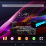 Xperia Tablet Z Android 4.3 10.4.B.0.569 firmware update - Home Screen