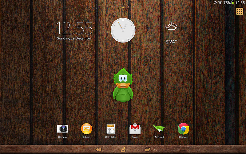 Wood theme on Xperia Tablet Z Wi-Fi Android 4.3 10.4.B.0.577 firmware update