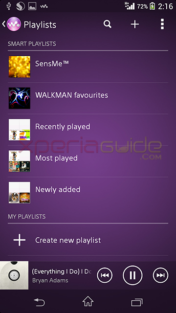 Walkman app version 8.0.A.0.3 OTA Update