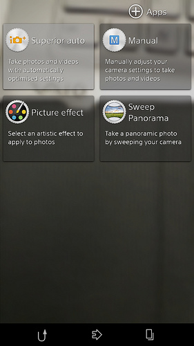 New Camera app in Android 4.3 10.4.B.0.569 firmware