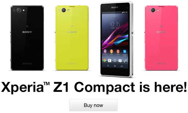 SIM free Xperia Z1 Compact UK