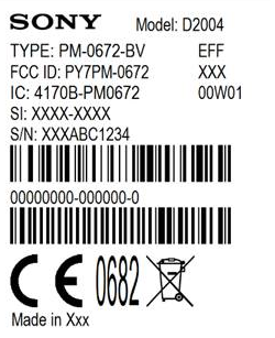 Sony D2004 spotted on FCC