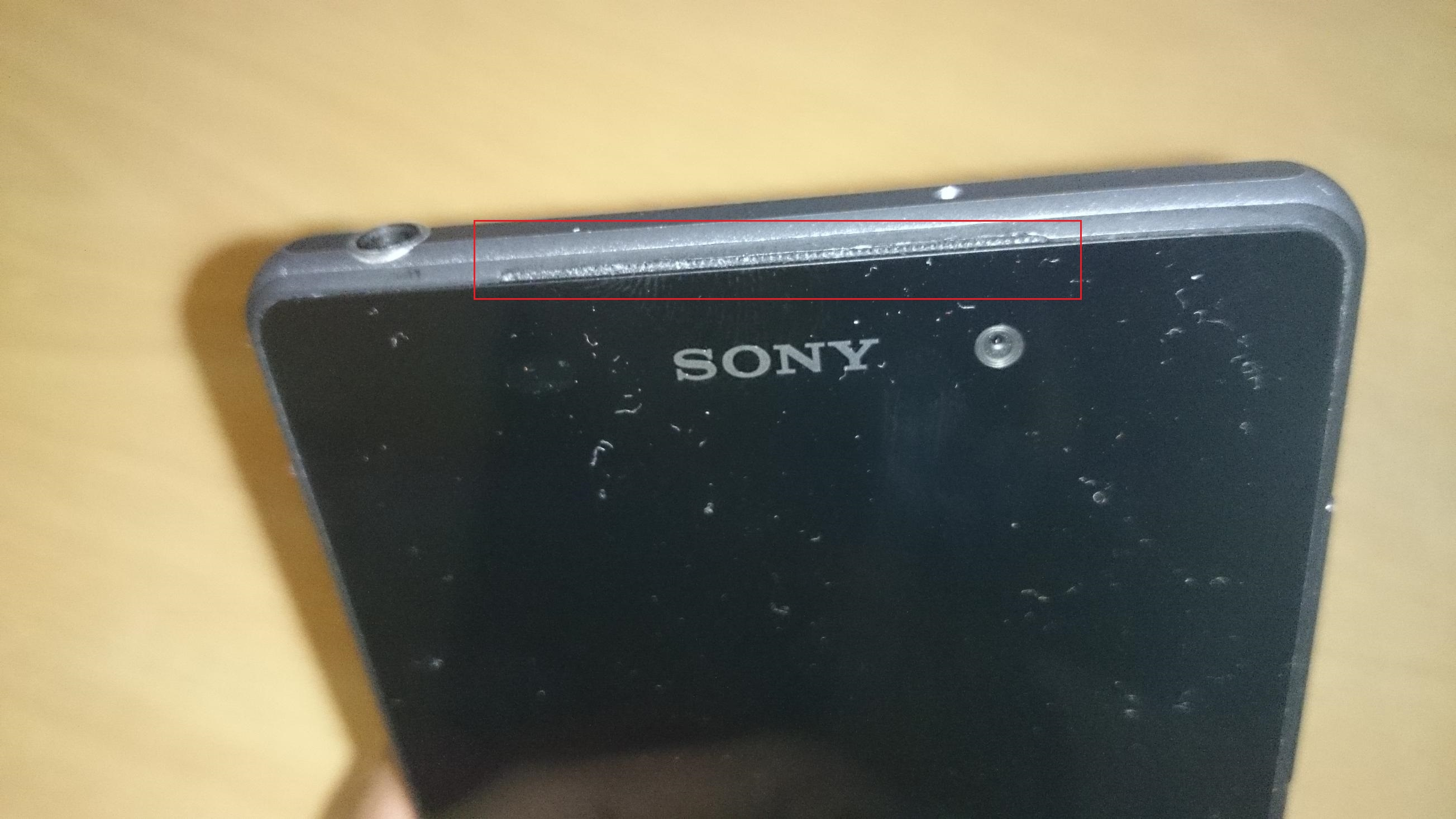 Sony D6503 Sirius Speaker Position at top
