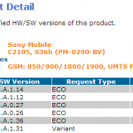 Xperia L 15.3.A.1.14 firmware certified – Minor Bug Fixing Update