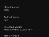 Xperia L 15.3.A.1.14 firmware update rolling - About Phone screenshot
