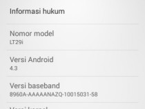 Xperia TX LT29i Android 4.3 9.2.A.1.131 firmware - About Phone