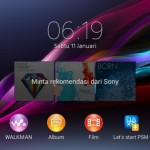 Xperia V LT25i Android 4.3 9.2.A.1.131 firmware - Home Screen