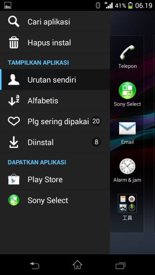 Xperia V LT25i Android 4.3 9.2.A.1.131 firmware - New Home Launcher