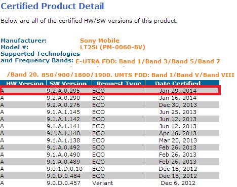 Xperia V 9.2.A.0.295 firmware