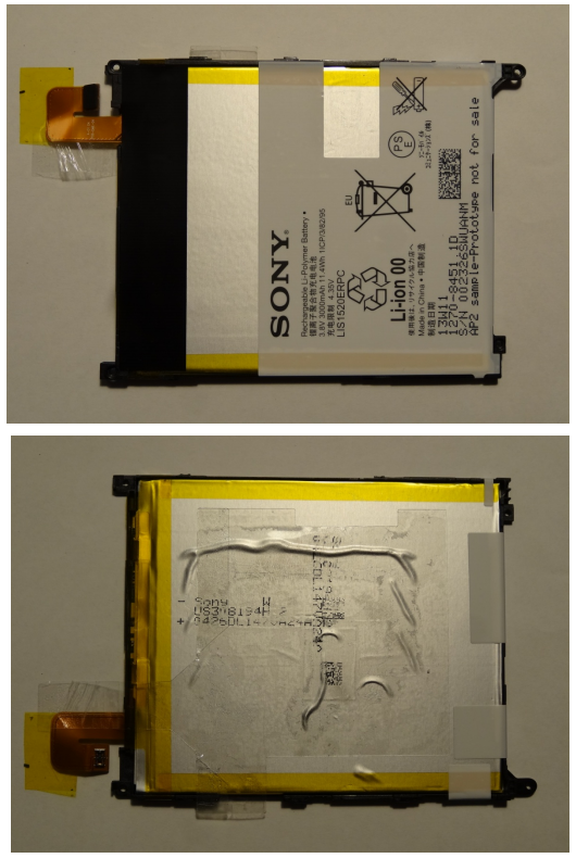 Xperia Z Ultra SGP412 Wi-Fi is fitted with 3000 mAh Ii-ion battery model LIS1520ERPC