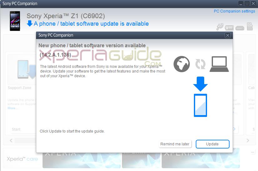 Xperia Z1 14.2.A.1.136 firmware India