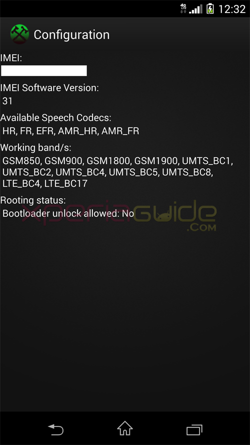 Xperia Z1S Bootloader Unlock Not Allowed