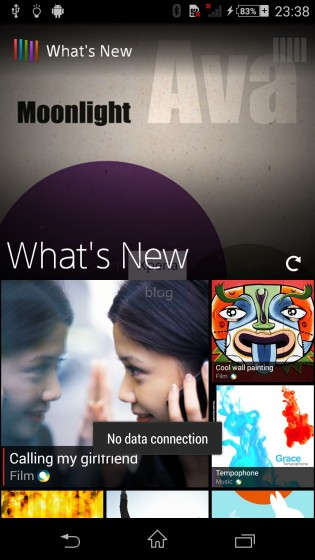 Sony's new What's New Feature in Sony D6503 Android 4.4.2 KitKat Xperia UI