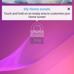 Pink Background wallpaper in Sony D6503 Android 4.4.2 KitKat Xperia UI