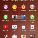 Transparent App Tray in Xperia Home launcher in Sony D6503 Android 4.4.2 KitKat Xperia UI