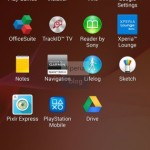 Pre-installed apps in Xperia Home launcher in Sony D6503 Android 4.4.2 KitKat Xperia UI