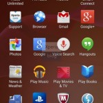 Pre-installed apps from Sony in Xperia Home launcher in Sony D6503 Android 4.4.2 KitKat Xperia UI