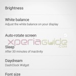 White Balance Settings on Xperia Z1 14.2.A.1.136 firmware