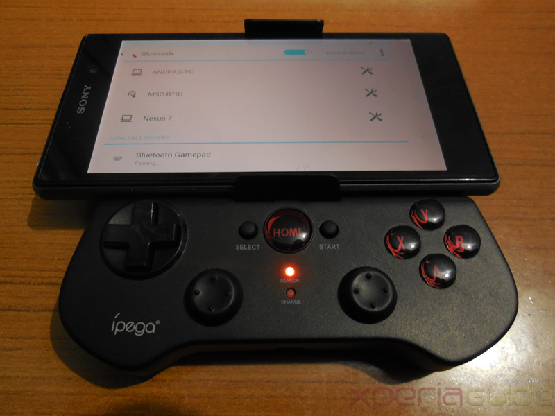ipega wireless Bluetooth controller - Pairing it with Xperia Z1
