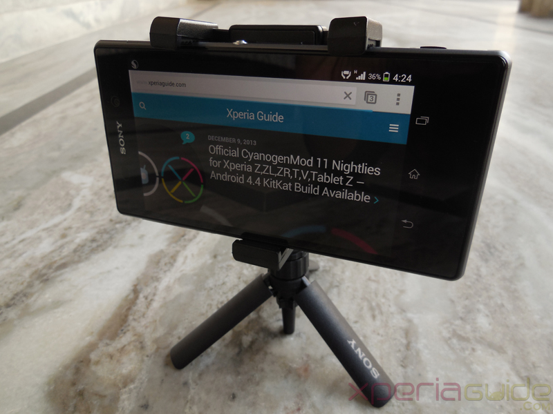 Sony Smartphone Tripod SPA-MK20M for Xperia Z1 Review