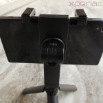 Back side profile of Sony Smartphone Tripod SPA-MK20M with Xperia Z1