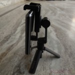 Side profile of Sony Smartphone Tripod SPA-MK20M with Xperia Z1