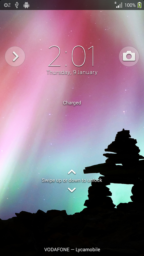 ta23Xperia T LT30p Android 4.3 9.2.A.0.278 firmware - Lock Screen