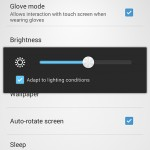 Xperia SP android 4.3 12.1.A.0.256 firmware - Adapt to Lightning condition option
