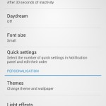 Xperia SP android 4.3 12.1.A.0.256 firmware - Day Dream Screen save settings