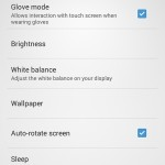 Xperia SP android 4.3 12.1.A.0.256 firmware - Glove Mode present