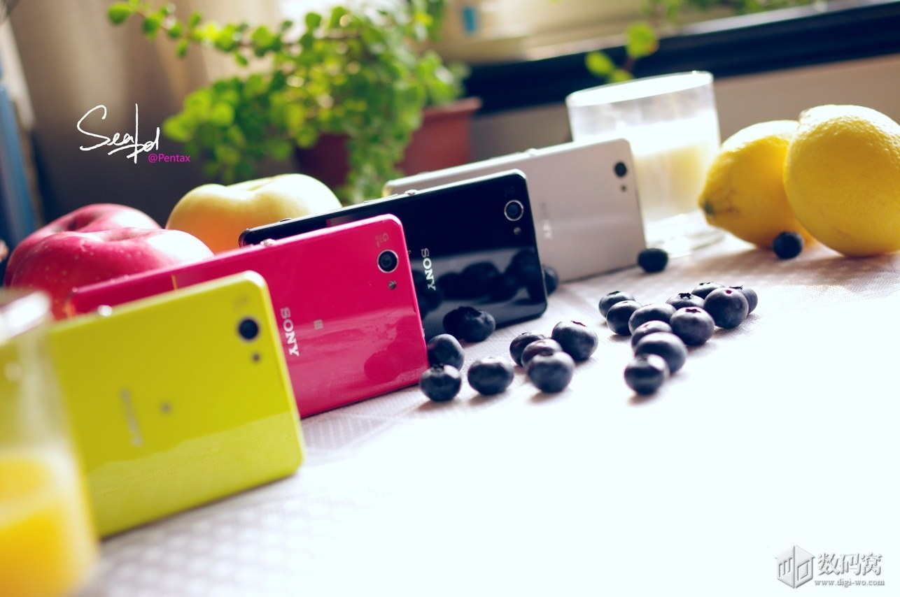 Xperia Z1 Compact in Pink, Black, White and Yellow