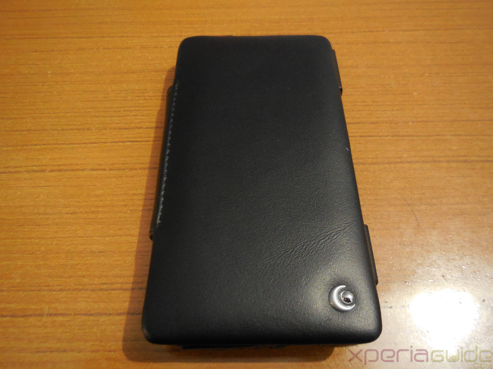 Front Side of Xperia ZR Leather Flip Case from Noreve