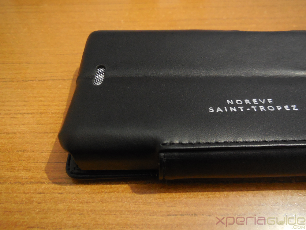 Speaker Grill of Xperia ZR Leather Flip Case from Noreve