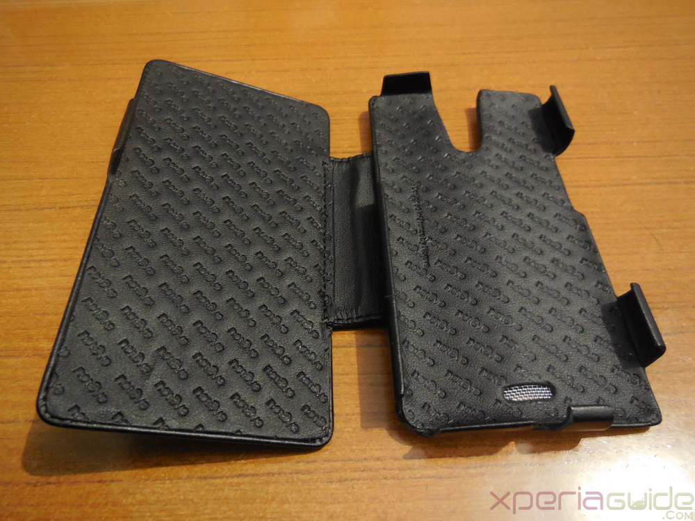 Inner lining of  Xperia ZR Leather Flip Case from Noreve